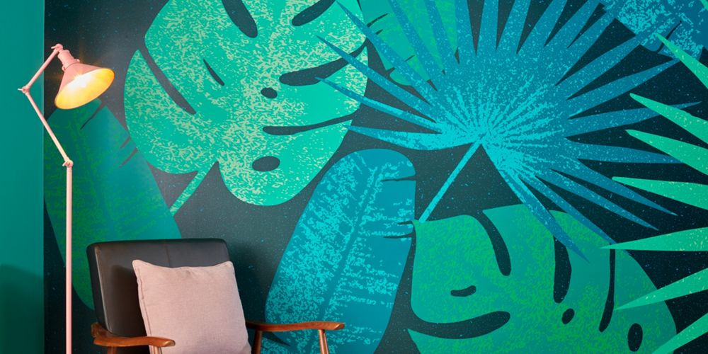 Be bold with decorative wallpaper