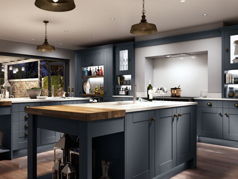 Grey Slate Wall Tiles Kitchen
