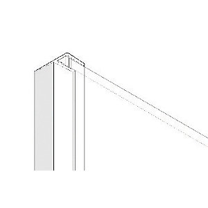 Image of Aqualux Universal Bath/Shower Screen Angled Side Seal - 2m