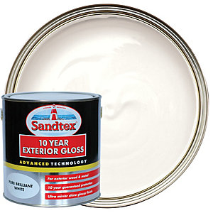 Image of Sandtex 10 Year Exterior Gloss Paint - Pure Brilliant White 2.5L