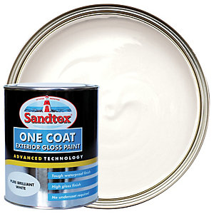 Sandtex One Coat Exterior Gloss Paint - Pure Brilliant White 750ml