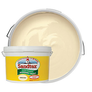 Sandtex Ultra Smooth Masonry Paint - Cornish Cream 10L