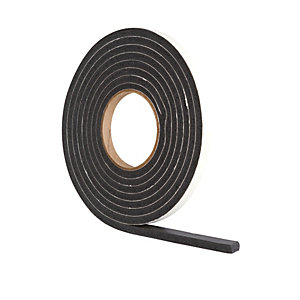 Image of Wickes Extra Thick Draught Seal Black - 3.5m