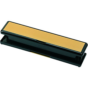Image of Wickes Sleeved Letter Box Gold Effect - 75 x 295mm
