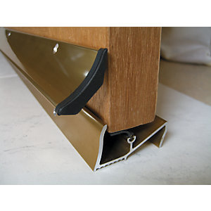 Image of Wickes Threshold and Rain Deflector Gold 838 mm