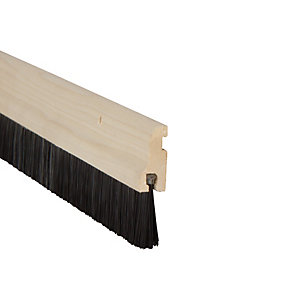 Image of Wickes Door Brush Draught Excluder Wood - 838mm