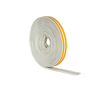 Wickes P Profile Rubber Draught Seal White - 10m