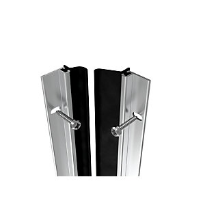 Image of Wickes Full Door Metal Draught Excluder Aluminium - 5028mm