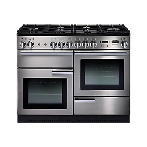 Rangemaster Professional+ 110cm Dual Fuel Range Cooker - Stainless Steel