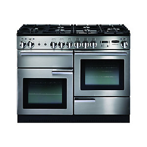 Rangemaster Professional+ 110cm Natural Gas Range Cooker - Stainless Steel