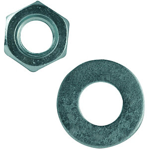Wickes Nuts Washers M6 Pack 10