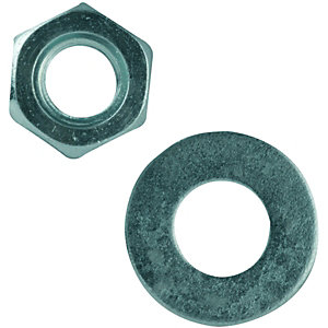 Wickes Nuts Washers M10 Pack 10