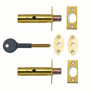 Yale P-2PM444-PB-2 Door Security Bolt - Brass Pack of 2