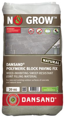 dansand no weed polymeric block paving joint fix 20kg wickes co uk