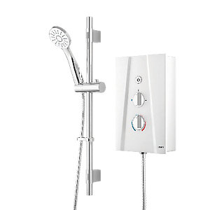 Wickes Hydro Ultra Electric Shower Kit - White/Chrome 10.5kW