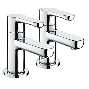 Bristan Nero Bath Taps - Chrome