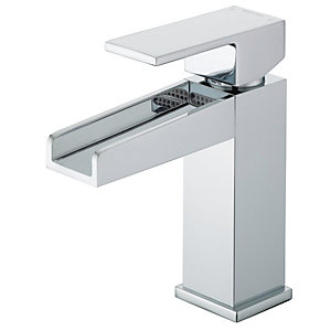 Image of Bristan Hampton Waterfall Basin Mixer Tap - Chrome
