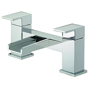 Image of Bristan Hampton Waterfall Bath Filler Tap - Chrome