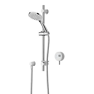 Image of Bristan Artisan Evo Digital Thermostatic Mixer Shower & Adjustable Riser - White