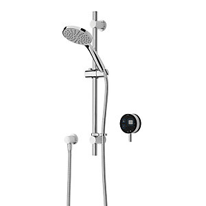 Image of Bristan Artisan Evo Digital Thermostatic Mixer Shower & Adjustable Riser Kit - Black/Chrome