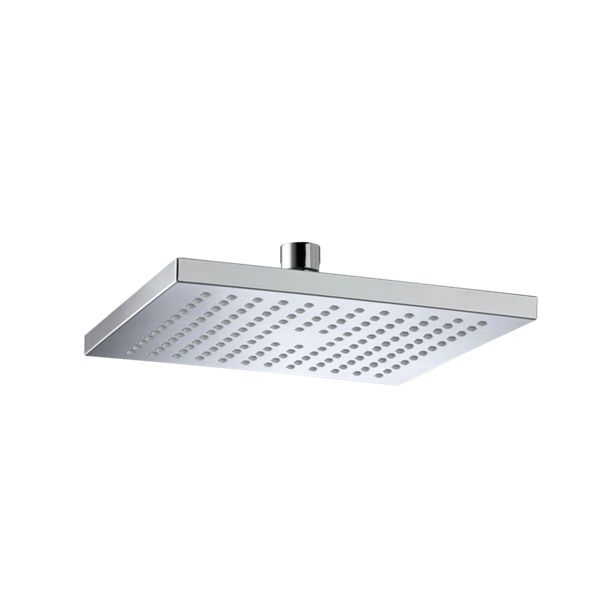 Bristan Square Wall Mounted Chrome Shower Head & Arm - 200mm