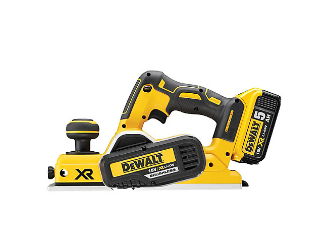 DEWALT DCP580P2 18V Cordless Planer 82mm with 2 x 5.0Ah Batteries & Carry Case