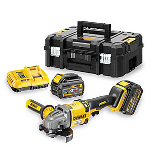 DEWALT DCG414T2 XR 54V Flexvolt Cordless Angle Grinder 125mm with 2 x 6.0Ah Batteries