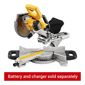 DEWALT DCS365N-XJ 18v Cordless 184mm Sliding Mitre Saw With Blade - Bare