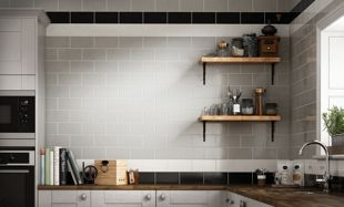 Wickes Cosmopolitan Black Ceramic Tile 200 x 100mm | Wickes.co.uk