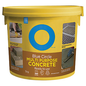 Image of Blue Circle Multipurpose Ready To Use Concrete Tub - 5kg