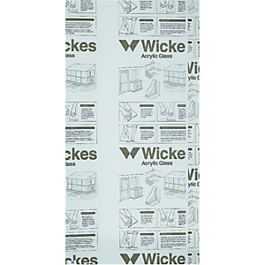 new arrival 9b9fd d7dc1 Wickes Durable Clear Acrylic Sheet - 600mm X 1220mm
