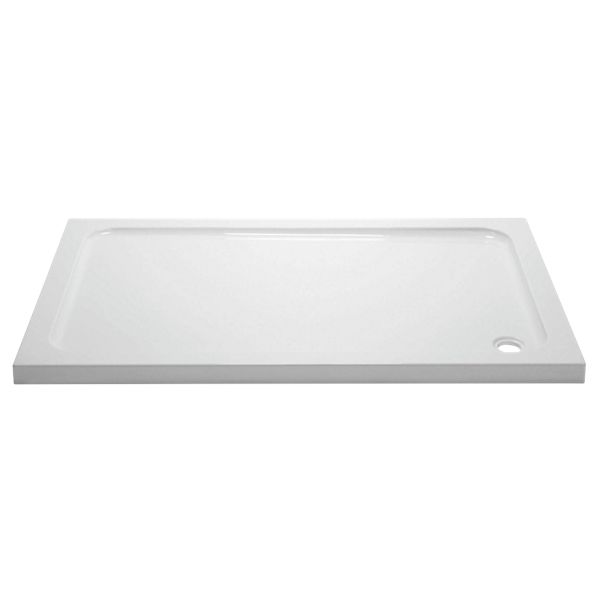 Wickes 45mm Cast Stone Rectangular Shower Tray - 1000mm X 800mm