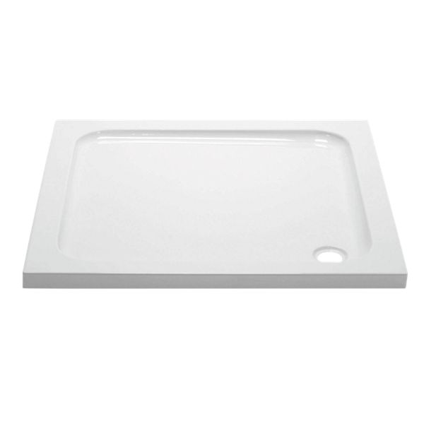 Wickes 45mm Cast Stone Square Shower Tray - 760 X 760mm