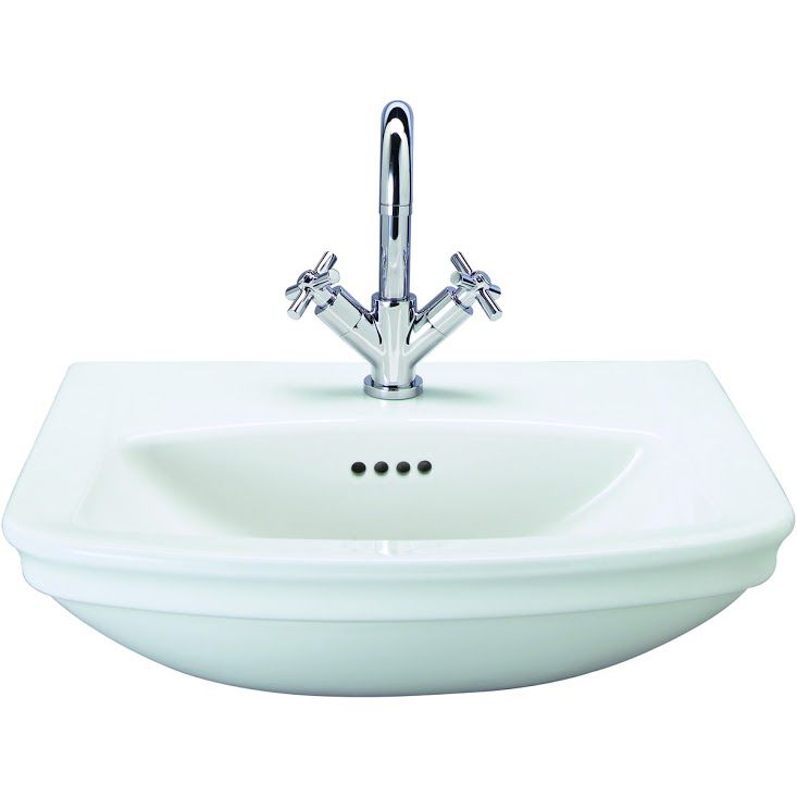 Wickes Belize Ceramic Semi Recessed Basin   560mm by Wickes