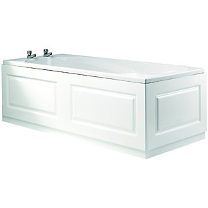Wickes Bath End Panel - Glacier White 700mm