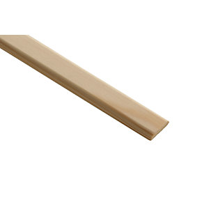Wickes Pine D-shape Moulding - 21mm x 4mm x 2.4m