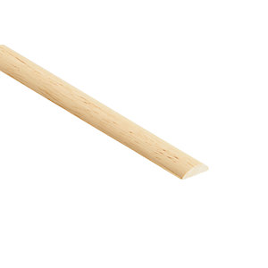 Wickes Light Hardwood Half Round Moulding - 22mm x 6mm x 2.4m