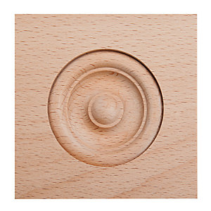 Wickes Light Hardwood Architrave Block Moulding - 63mm x 63mm