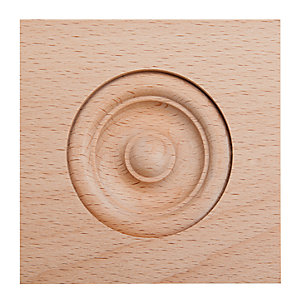 Wickes Light Hardwood Architrave Block Moulding - 89mm x 89mm