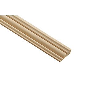 Wickes Light Hardwood Barrel Moulding 34mm x 12mm x 2.4m