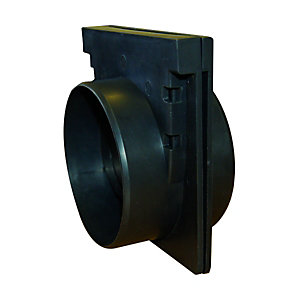 Image of Clark-Drain Black Channel Driveway Grate End Caps - Pack of 2