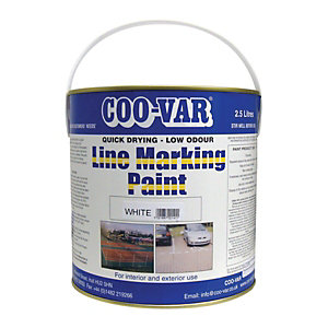 Image of Coo-Var Low Odour Line Marking Paint - White