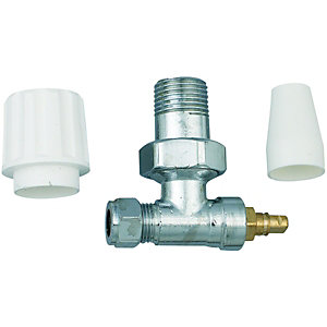 Wickes Radiator Valve - 10mm Pack of 2