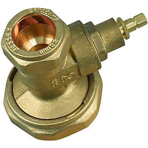Image of Wickes Gate Type Pump Valve - 22mm Pack 2