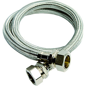 Wickes Flexible Compression Tap Connector - 15 x 15 x 1000mm