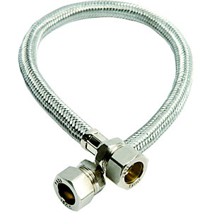 Wickes Flexible Compression Tap Connector - 15 x 15 x 500mm