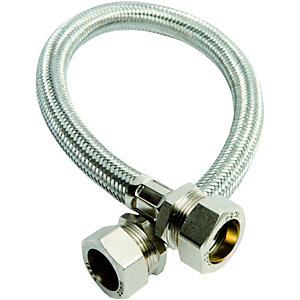 Image of Wickes Flexible Compression Connector - 22 x 22 x 300mm