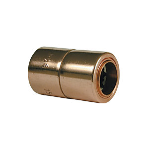 Image of Wickes Copper Push Fit Reducer - 15 x 10mm