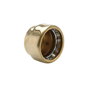 Wickes Copper Pushfit Stop End Cap - 15mm Pack of 2