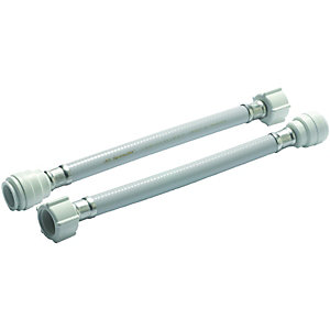 Wickes Hand Tighten Tap Connector - 22 x 19 x 300mm Pack of 2